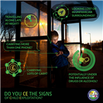 CE bus stop flyer